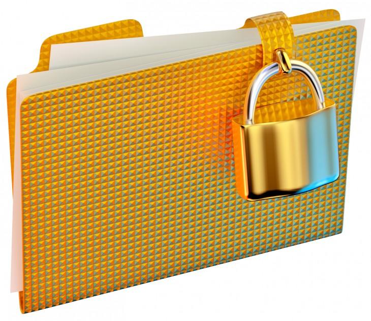 File Folder with a Padlock on it