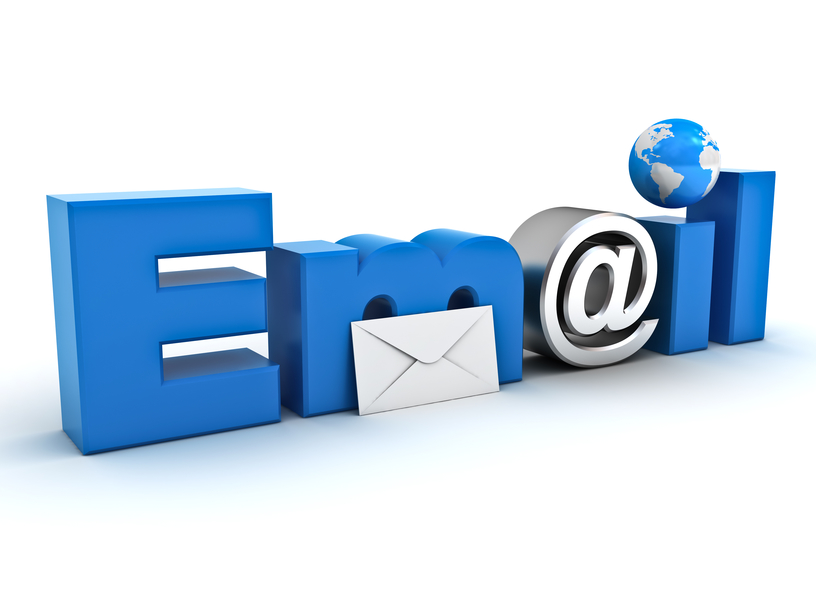 Styled word e-mail with an @ style instead of the a